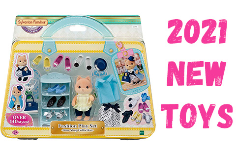 New Calico Critters Sylvanian Families toy sets 2021: Shoe Shop, Spooky Surprise House, Midnight Cat family, Panda family and more!