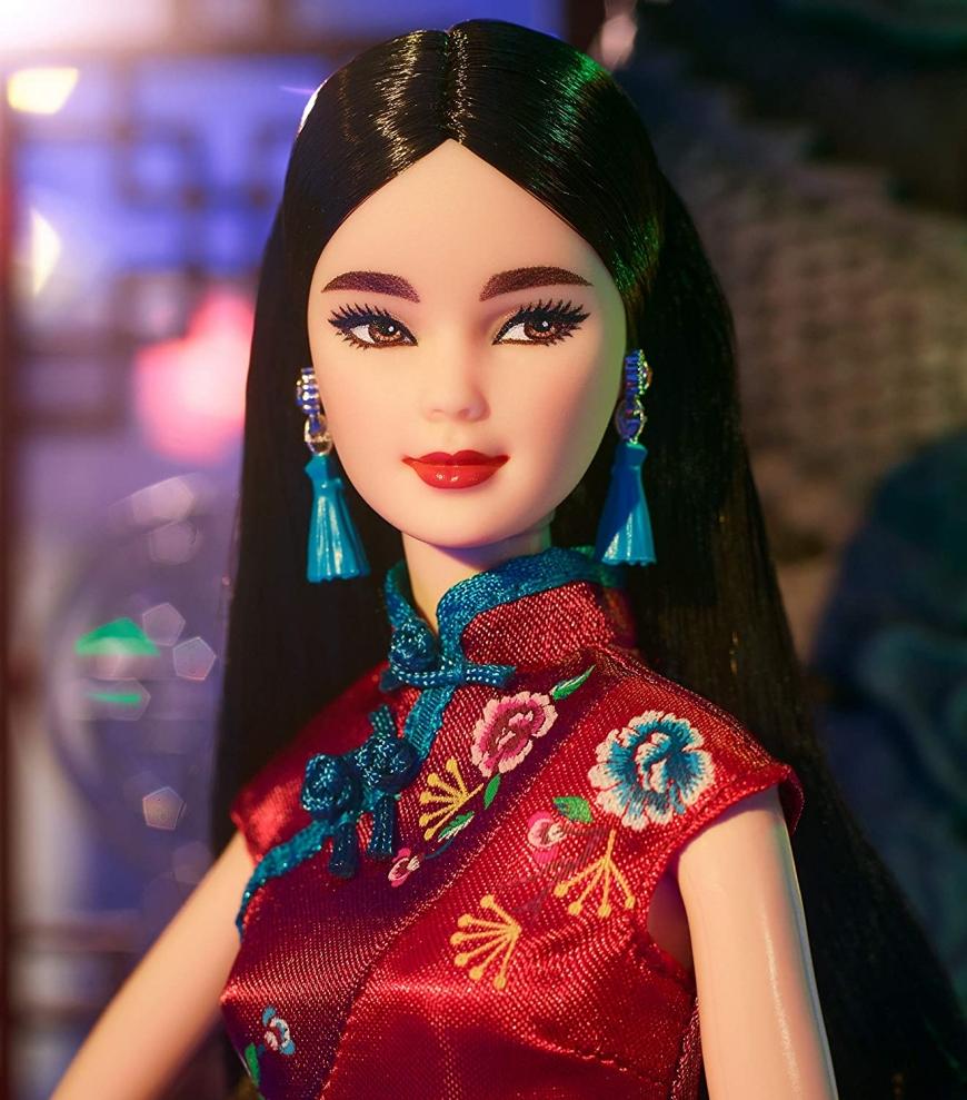 Barbie Imported Multicoloured Plastic Barbie Glitter Hair