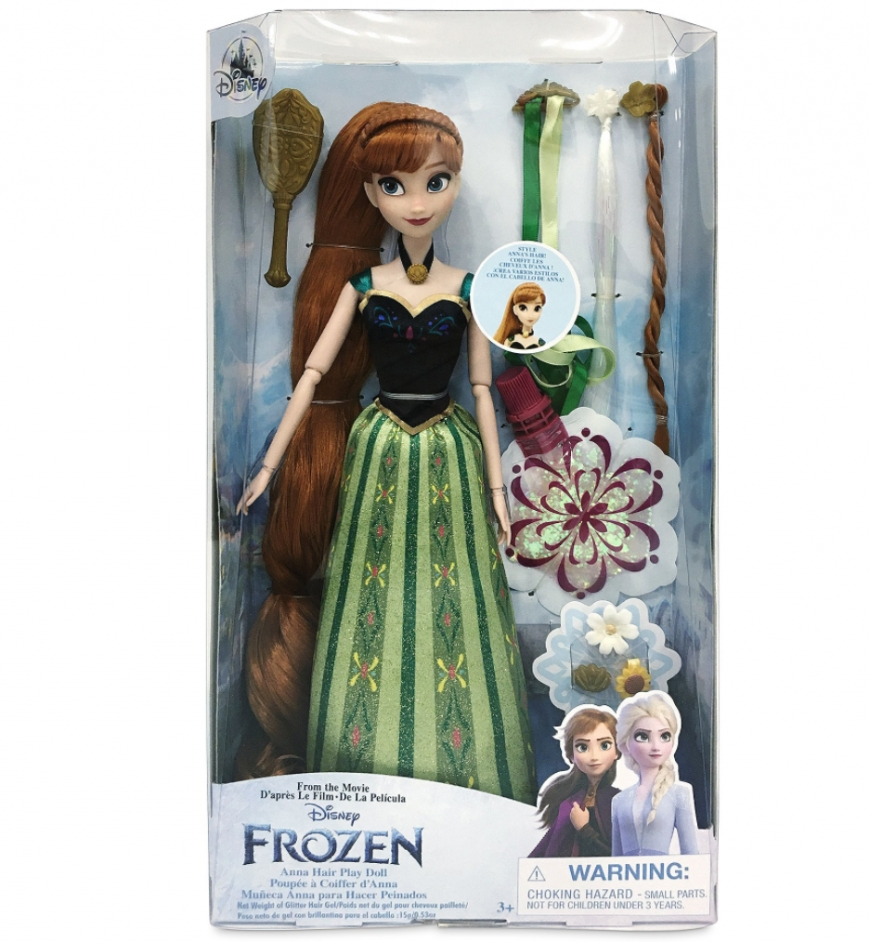 Disney Store Frozen Anna and Elsa Hair Play dolls 2021