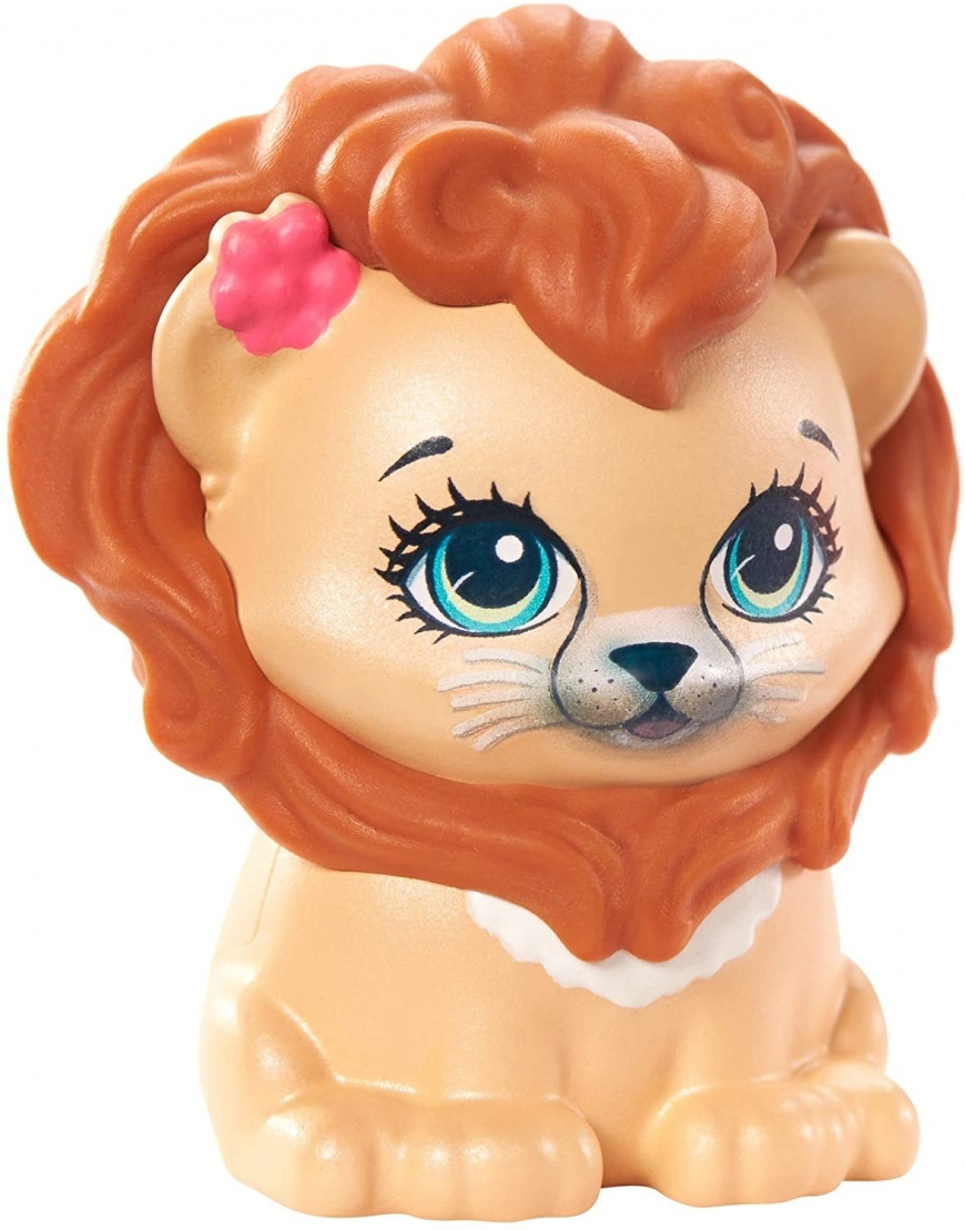 Enchantimals Stylin Salon Playset with Lacey Lion doll