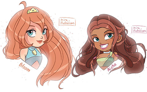 Super cute Winx from mica.illustrations