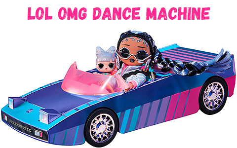 LOL OMG Dance Machine Car playset 2021 with exclusive LOL doll Dancebot