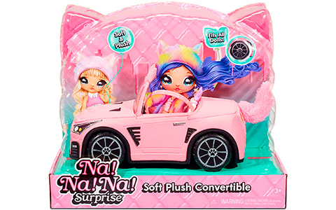 Na Na Na Surprise Plush Kitty Convertible Car – new plush car