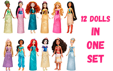 Disney Princess Royal Collection - all 12 Royal Shimmer dolls in one playset