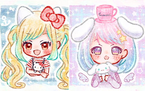 Sanrio characters as cute girls
