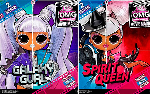 LOL OMG Movie Magic dolls: Galaxy Gurl, Starlette, Spirit Queen, Miss Direct