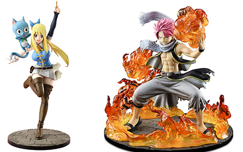 Fairy Tail Final Season 1:8 figures from Bellfine: Natsu Dragneel and Lucy Heartfilia