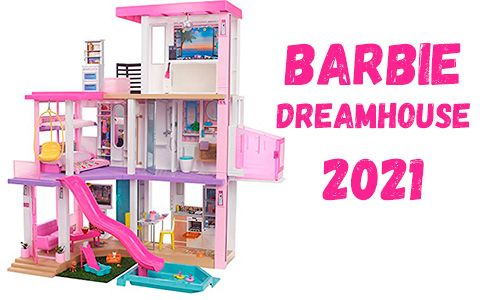Barbie Dreamhouse 2021 doll house with lights and sounds