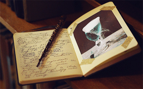 Harry Potter cinemagraphs: Magical notebooks