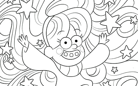 New super cool Graviry Falls coloring pages