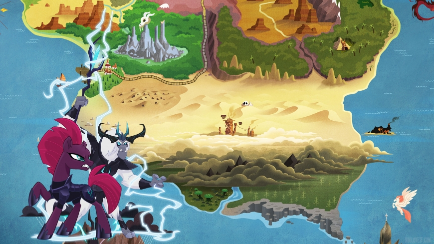 My Little Pony The Movie wallpaper map and Storm King