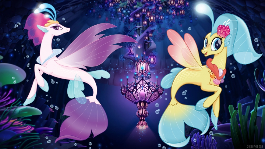 My Little Pony The Movie wallpaper Queen Novo and Skystar