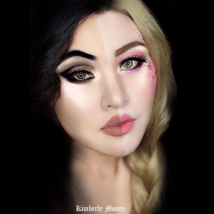 Two in one: Villains and Disney Princess makeup Rapunzel and Mother Gothel