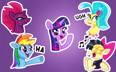My Little Pony The Movie: animated emotions - stickers