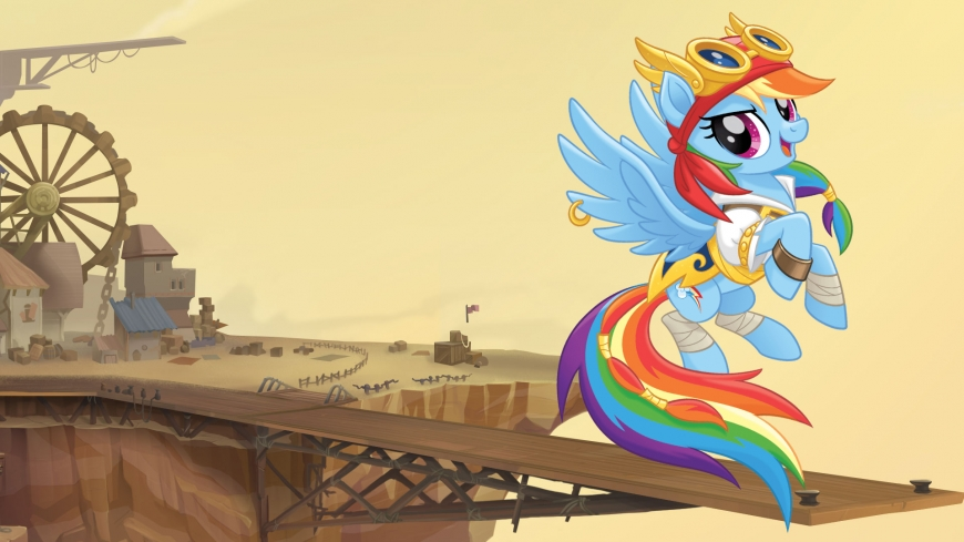 My Little Pony The Movie wallpaper pirate Rainbow Dash