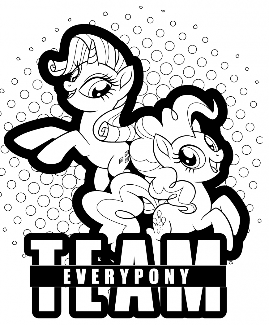 My Little Pony The Movie coloring page with Rarity and Pinkie Pie