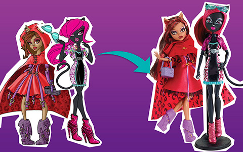 Monster High dolls from Concept art to Final Product