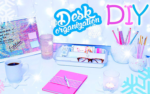 6 DIY for Winter Style Desk Decorations and Organizers