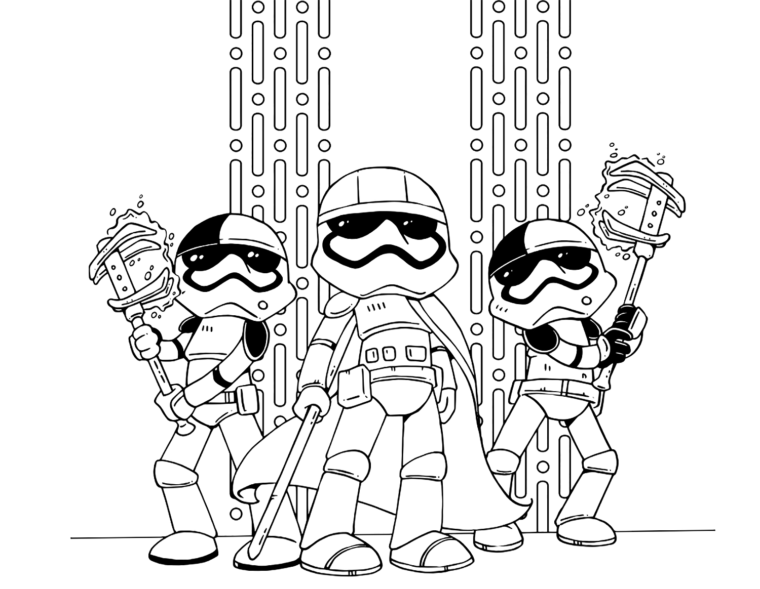 Star Wars: The Last Jedi cute coloring pages - YouLoveIt.com