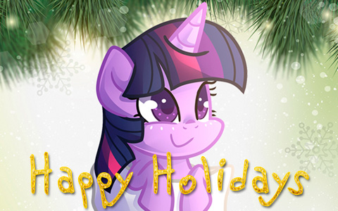 My Little Pony Christmas Holiday cards