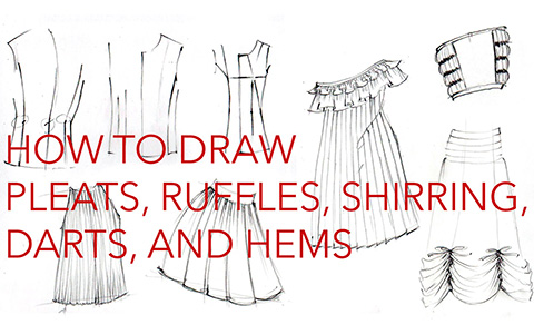 Drawing Clothes:  How to draw Wraparounds, Drapes and Folds, Pleats, Ruffles, Hems, Darts