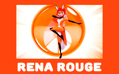 Miraculous Ladybug season 2: Rena Rouge - Red Fox transformation in gifs