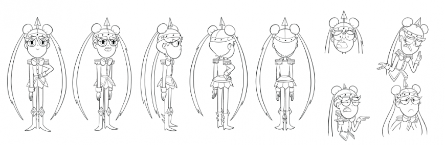 "Star vs the Forces of Evil: Concept arts for the ""Moon the Undaunted"" episode"