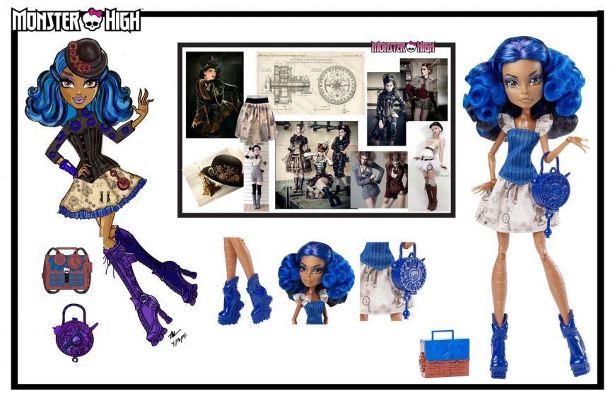 Monster High concept art designs and dolls