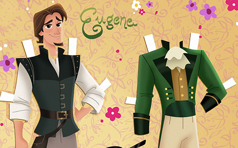 Tangled the series: Eugene Fitzherbert paper doll