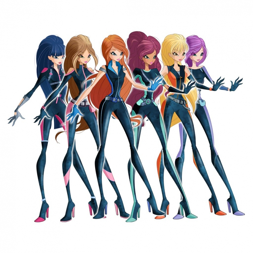 World of Winx fashion - spies outfits