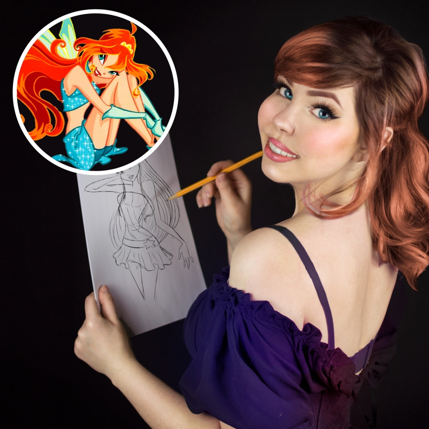 Winx Club cosplayer Una Fata Bloom