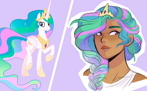 If ponies from My Little Pony were human