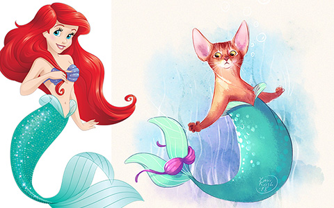 If Disney Princess were cats