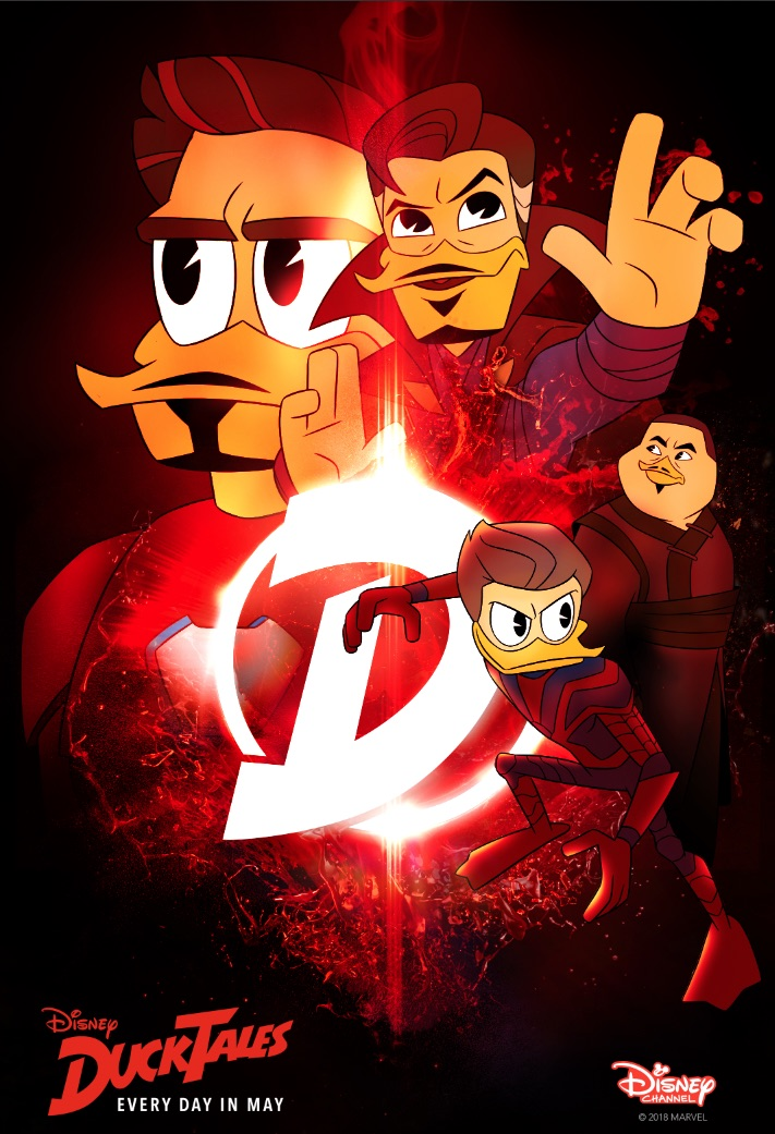 DuckTales and Avengers 3 Mashup Movie Posters