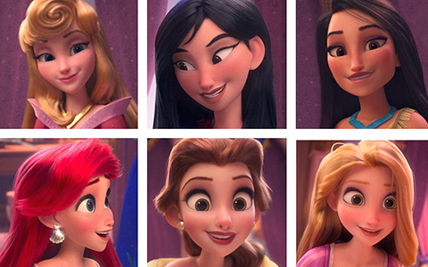 All Disney Princesses in 3D from Ralph Breaks the Internet