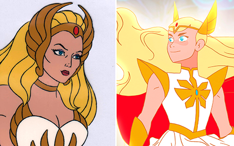 First look at She-Ra and the Princesses of Power characters - 1985 VS 2018