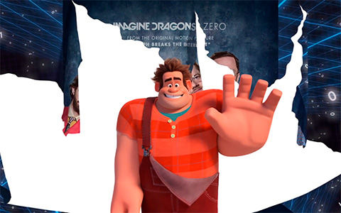 "You never believe a lyrics video can get this creative - Imagine Dragons  ""Zero"" from ""Ralph Breaks The Internet"""