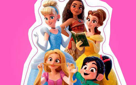 New pictures with Disney Princess from Ralph Breaks the Internet