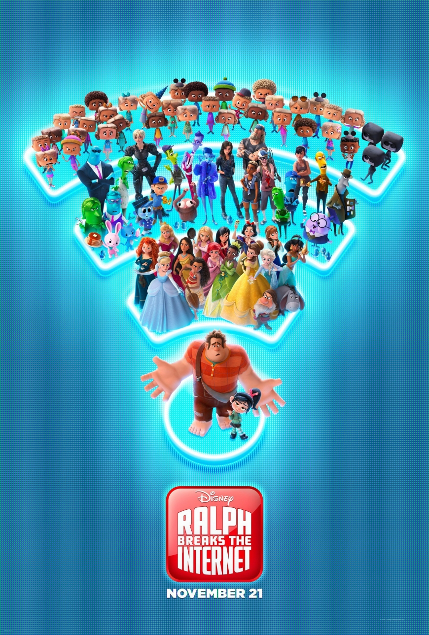 Ralph Breaks the Internet big poster with princess
