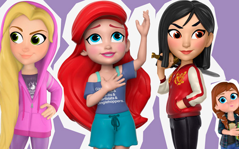 Disney Princess  Ralph Breaks the Internet Funko Rock Candy Comfy Princess figures