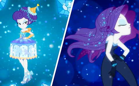2 new stunning outfits for Equestria Girls Rarity from The Other Side short
