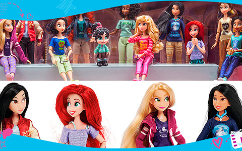 Almost all Disney Princesses Ralph Breaks the Internet dolls in 13-piece doll set