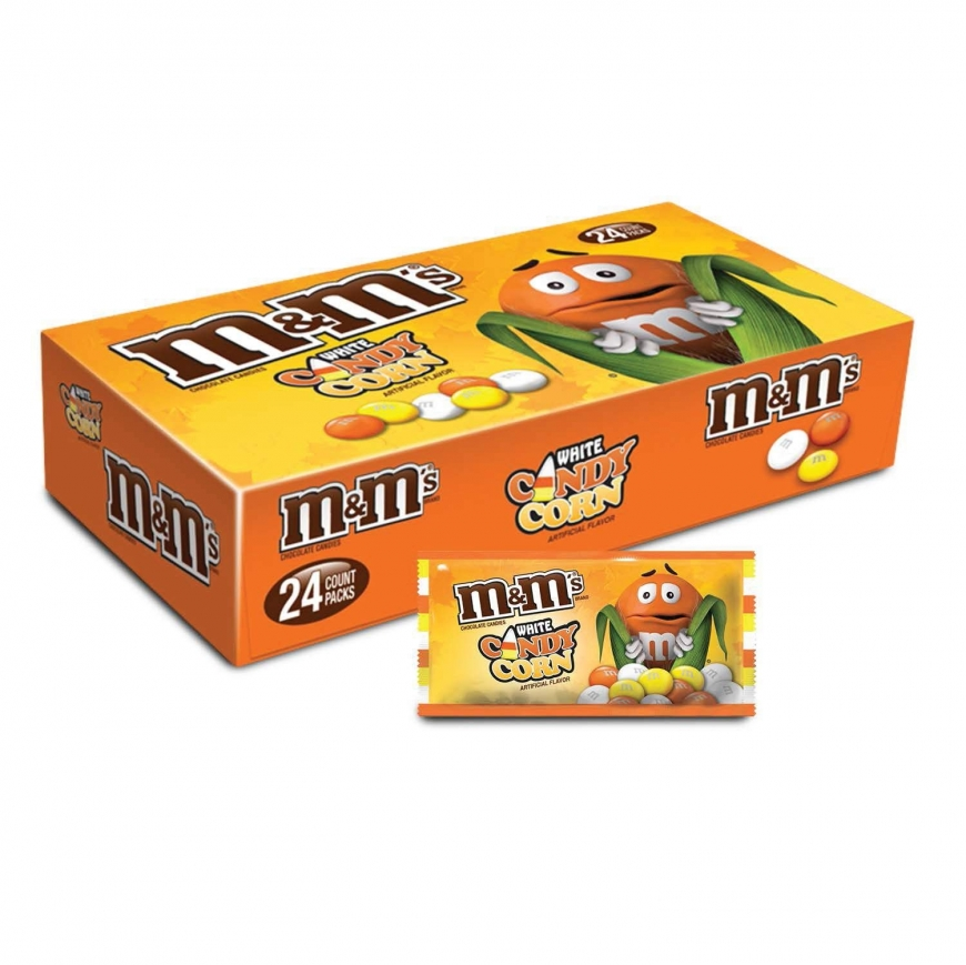 M&M'S White Chocolate Candy Corn Halloween Candy