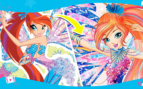 Winx Club new Sirenix transformation from season 8 VS old one