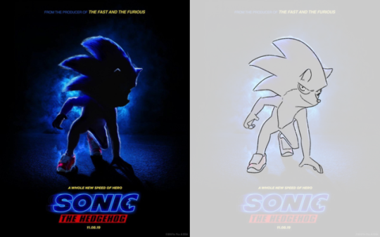 Sonic reacts too sonic the hedgehog movie poster - YouTube
