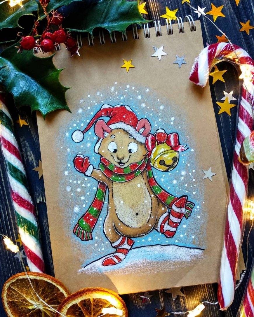 Christmas animals cards