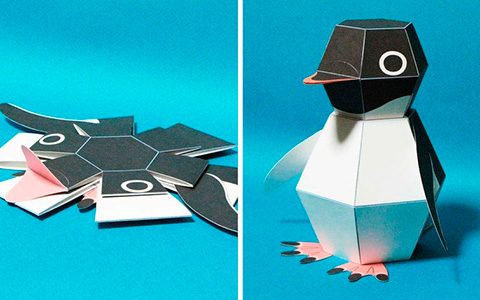 DIY: How to make Mechanical Paper Penguin POP - cool kinetic paper toy
