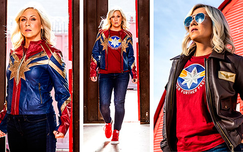 Her Universe Captain Marvel fashion collection