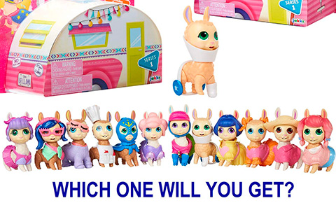 Who's Your Llama new collectible toys - Adorable little llamas with unique personalities and styles