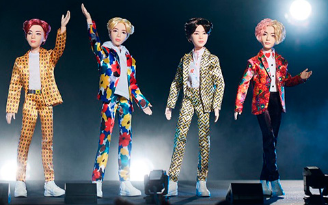 Mattel showed the world first BTS dolls